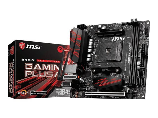 MSI B450I GAMING PLUS AC - Motherboard - Mini-ITX - Socket AM4 - AMD B450 - USB 3.1 Gen 1