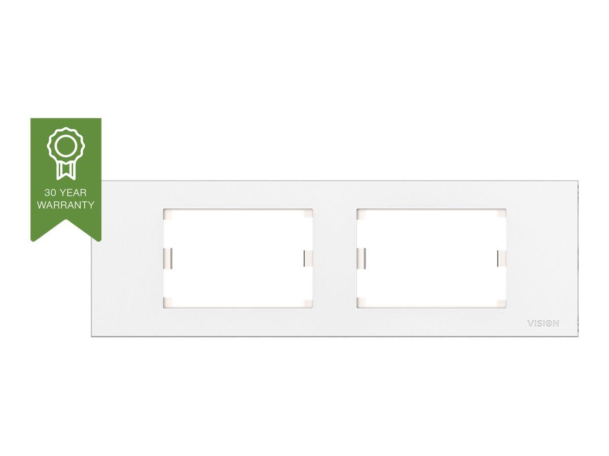 VISION TechConnect 3 BE frame - Kabelkanalabdeckung - Abdeckung mit zwei Aussparungen