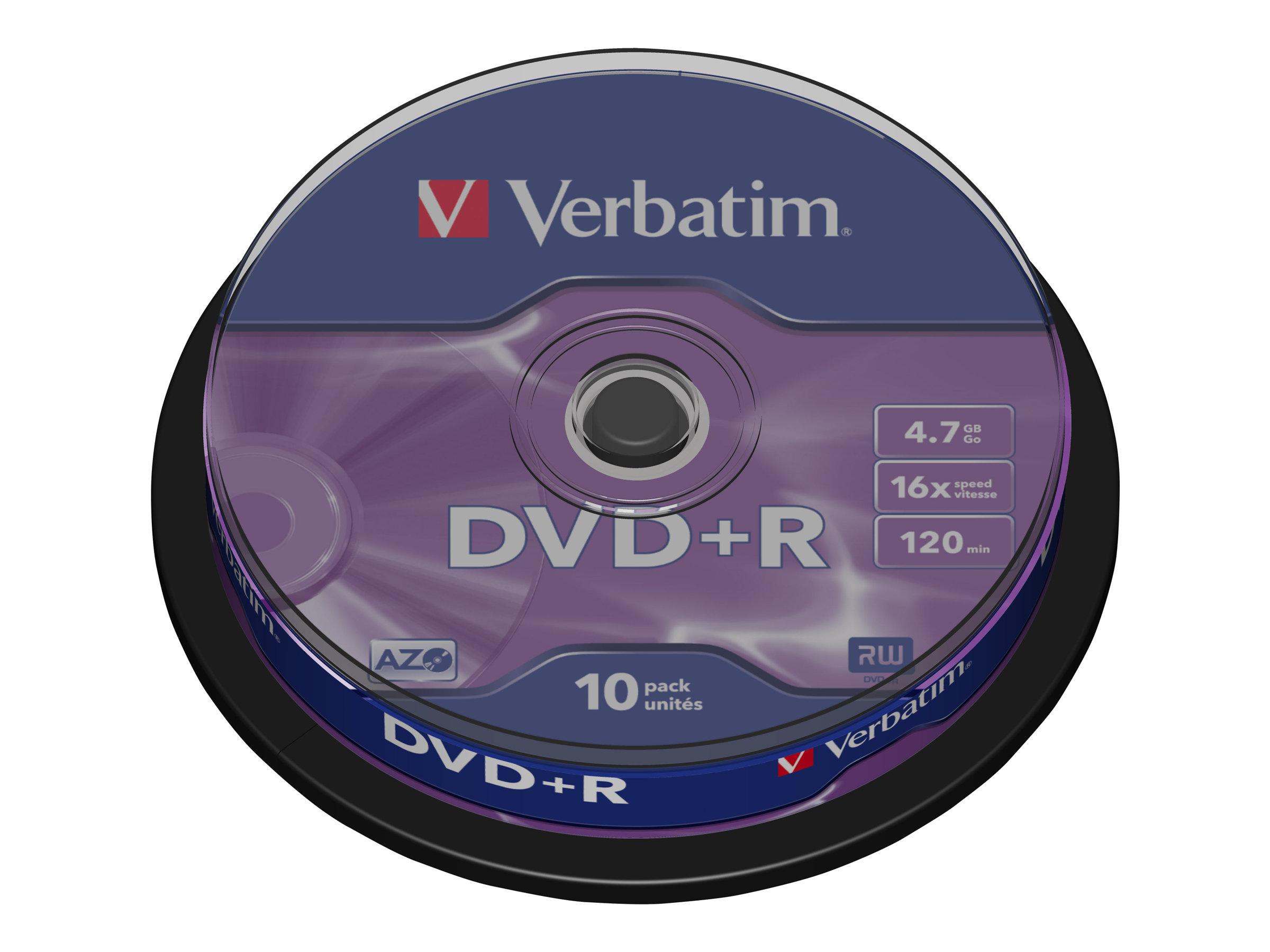 Verbatim DataLifePlus - 10 x DVD+R - 4.7 GB 16x