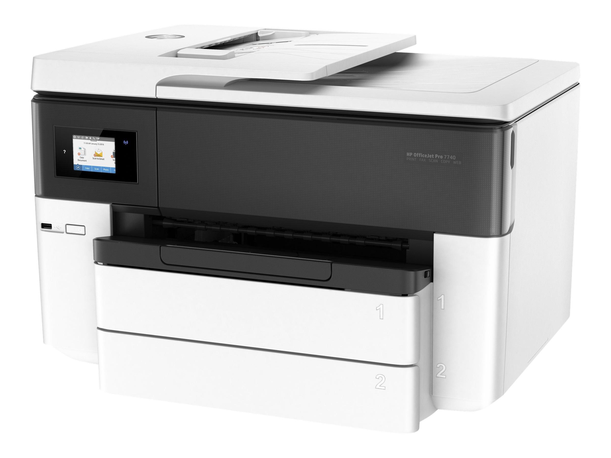 HP Officejet Pro 7740 All-in-One - Multifunktionsdrucker - Farbe - Tintenstrahl - A3/Ledger (297 x 432 mm) (Original) - A3 (Medi