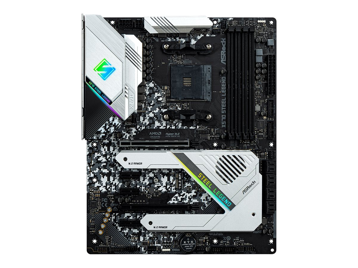 ASRock X570 Steel Legend - Motherboard - ATX - Socket AM4 - AMD X570 - USB-C Gen2, USB 3.2 Gen 1, USB 3.2 Gen 2