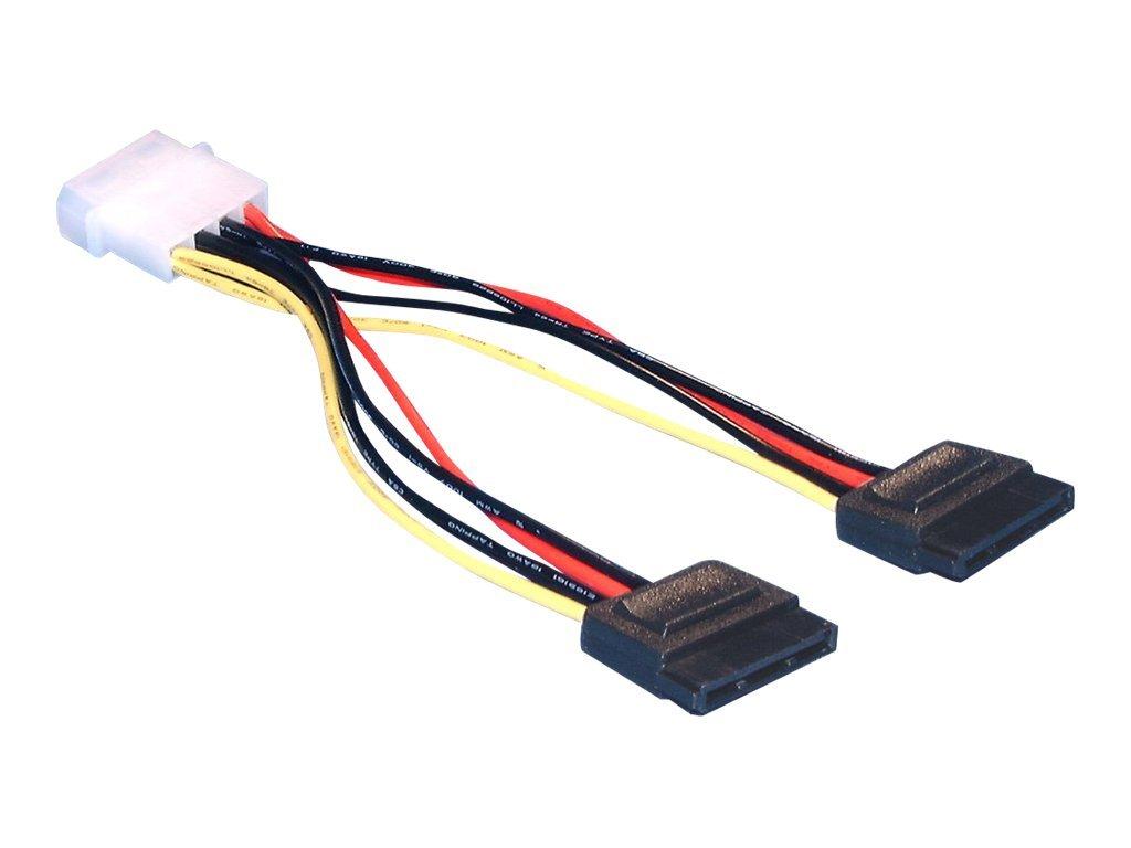 DeLOCK - Stromkabel - SATA-Stromstecker (M) bis interne Stromversorgung, 4-polig (M) - 10 cm - für DeLOCK PCI Express Card