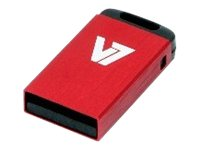 V7 VU28GCR-RED-2E - Nano USB-Flash-Laufwerk - 8 GB - USB 2.0 - Rot