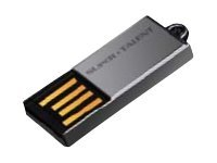 Super Talent Pico Series C - USB-Flash-Laufwerk - 16 GB - USB 2.0 - Nickel