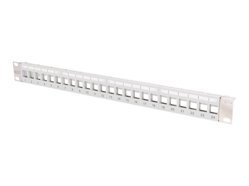 DIGITUS Professional DN-91410-LF - Patchpanel (Blindblech) - Rack montierbar - Grau, RAL 7035 - 1U - 48.3 cm (19