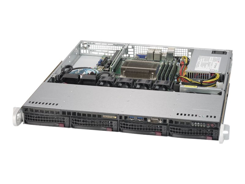Supermicro SuperServer 5019S-M - Server - Rack-Montage - 1U - 1-Weg - keine CPU