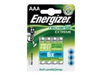 Energizer Recharge Extreme HR03 - Batterie 4 x AAA-Typ Alkalisch 800 mAh