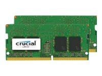 Crucial - DDR4 - 8 GB: 2 4 GB - SO DIMM 260-PIN - 2400 MHz / PC4-19200 - CL17