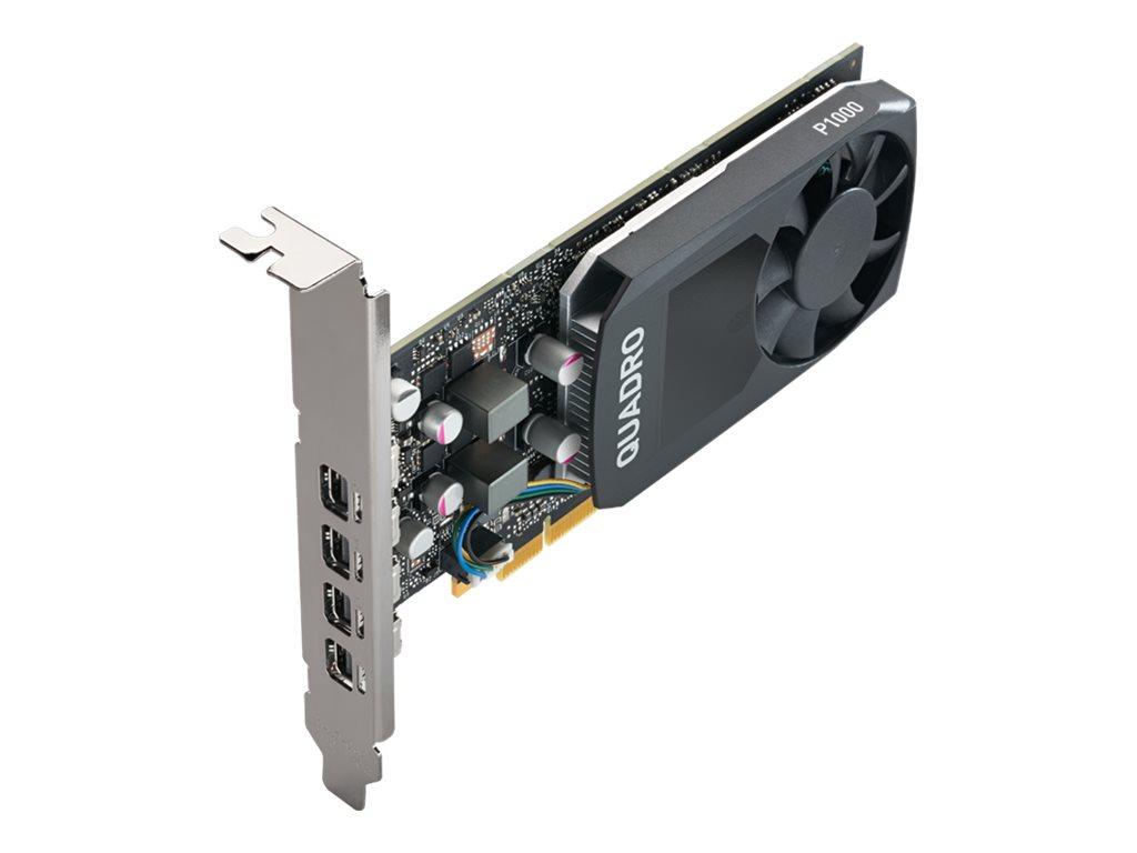 NVIDIA Quadro P1000 - Grafikkarten - Quadro P1000 - 4 GB GDDR5 - PCIe 3.0 x16 Low-Profile - 4 x Mini DisplayPort