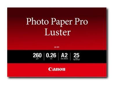 Canon Photo Paper Pro Luster LU-101 - Glanz - 260 Mikron - A2 (420 x 594 mm) - 260 g/m² - 25 Blatt Fotopapier