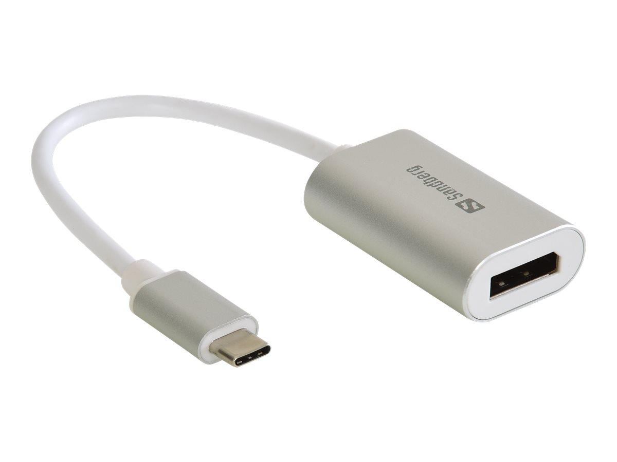 Sandberg USB-C to DisplayPort Link - Externer Videoadapter - USB-C 3.1 - DisplayPort
