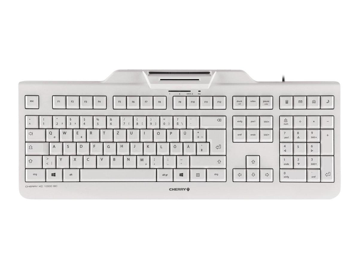 CHERRY KC 1000 SC-Z - Tastatur - mit Smart Card reader - USB - Deutsch - Schlüsselschalter: CHERRY LPK