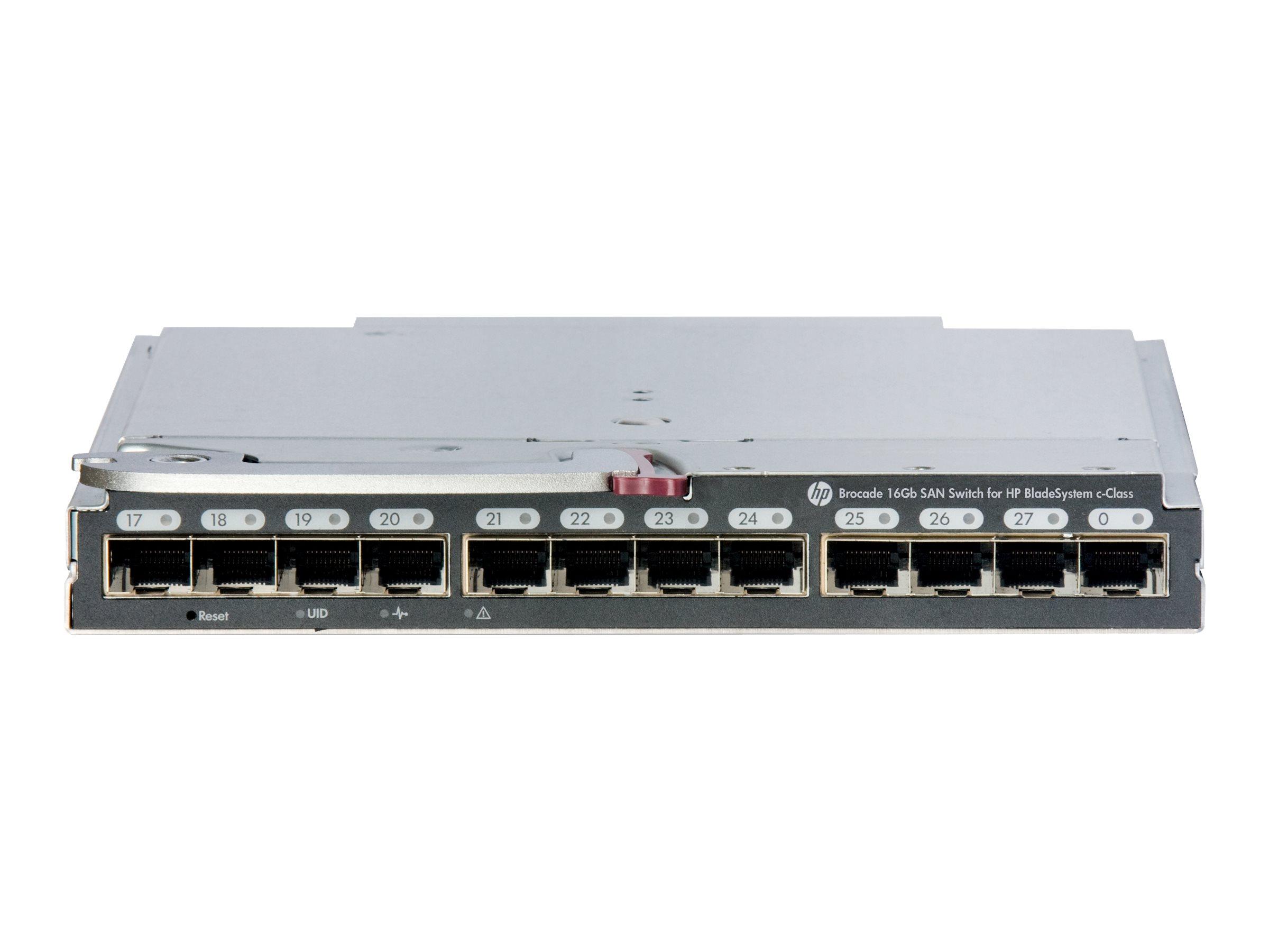 [Wiederaufbereitet] Brocade 16Gb/16 SAN Switch for HP BladeSystem c-Class - Switch - managed - 16 x 16Gb Fibre Channel - Plugin-