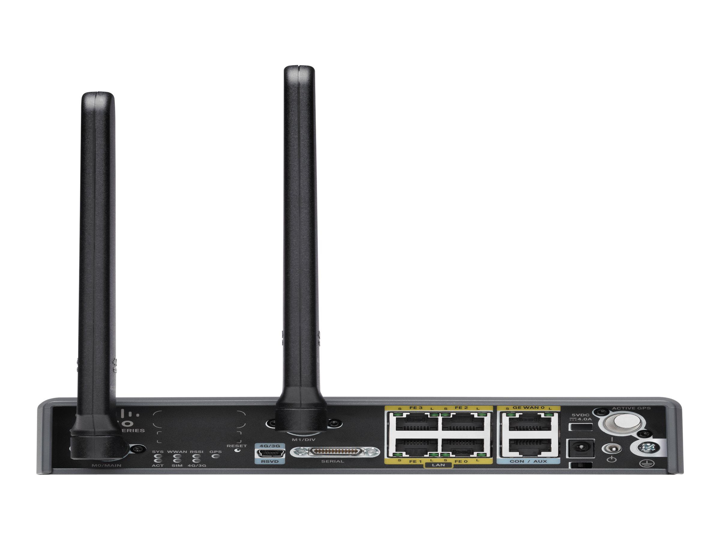 Cisco 819 4G LTE M2M Gateway - Router - WWAN - 4-Port-Switch AT&T