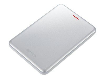 BUFFALO MiniStation SSD-PUSU3 - Solid-State-Disk - 480 GB - extern (tragbar) - USB 3.1 Gen 2 - Silber