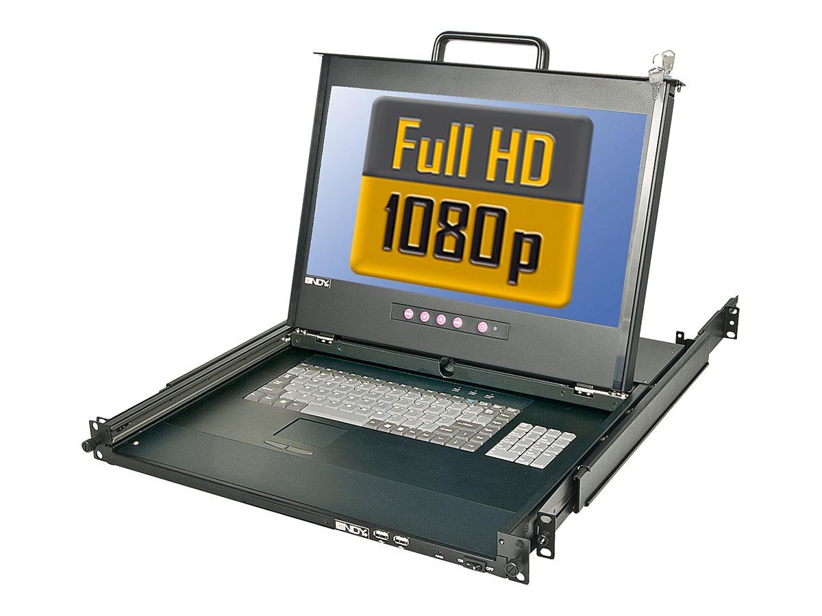 Lindy KVM Terminal - KVM-Konsole - PS/2, USB - 44 cm (17