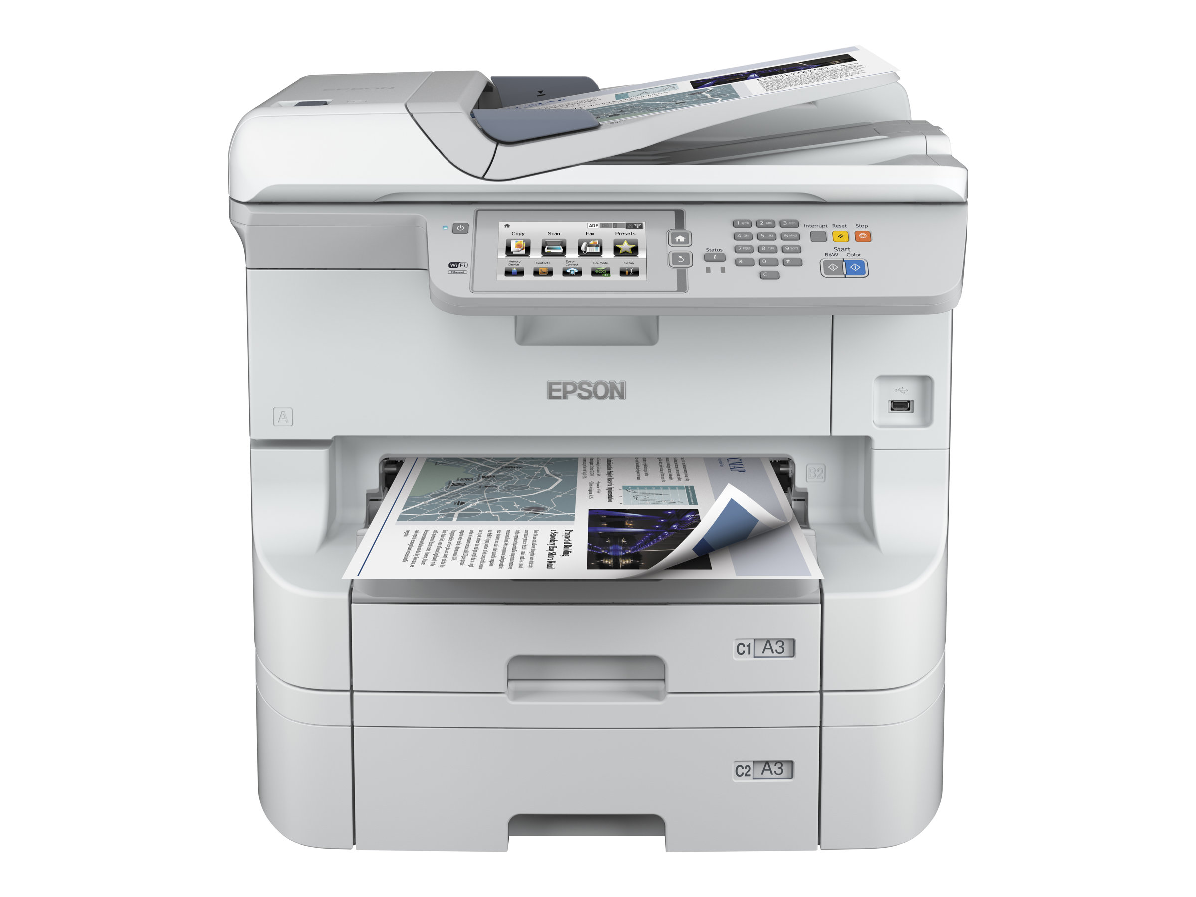 Epson WorkForce Pro WF-8590 DTWF - Multifunktionsdrucker - Farbe - Tintenstrahl - A3 (297 x 420 mm) (Original) - A3 (Medien)