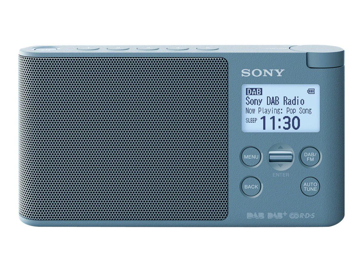 Sony XDR-S41D - Tragbares DAB-Radio - 0.65 Watt - Blau