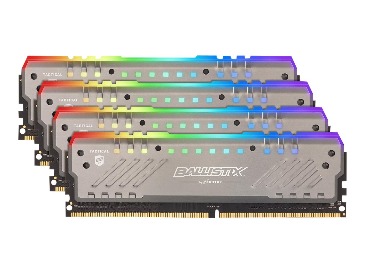 Ballistix Tactical Tracer RGB - DDR4 - 64 GB: 4 x 16 GB - DIMM 288-PIN - 3000 MHz / PC4-24000 - CL16