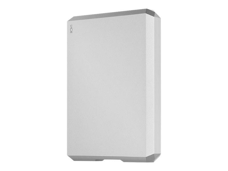 LaCie Mobile Drive STHG5000400 - Festplatte - 5 TB - extern (tragbar) - USB 3.0 (USB-C Steckverbinder) - Silver Moon