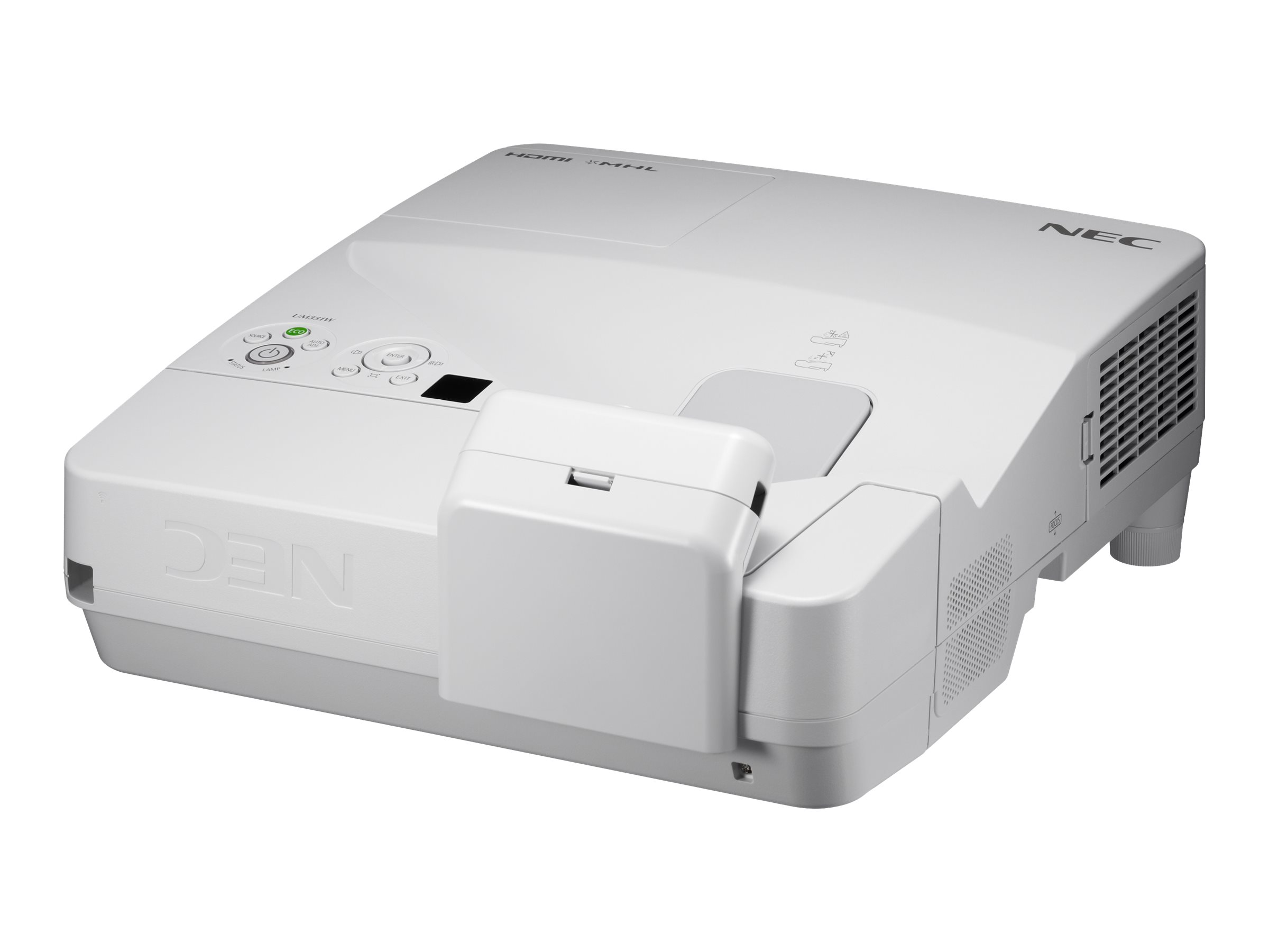 NEC UM351Wi (Multi-Pen) - 3-LCD-Projektor - 3500 ANSI-Lumen - WXGA (1280 x 800) - 16:10 - 720p