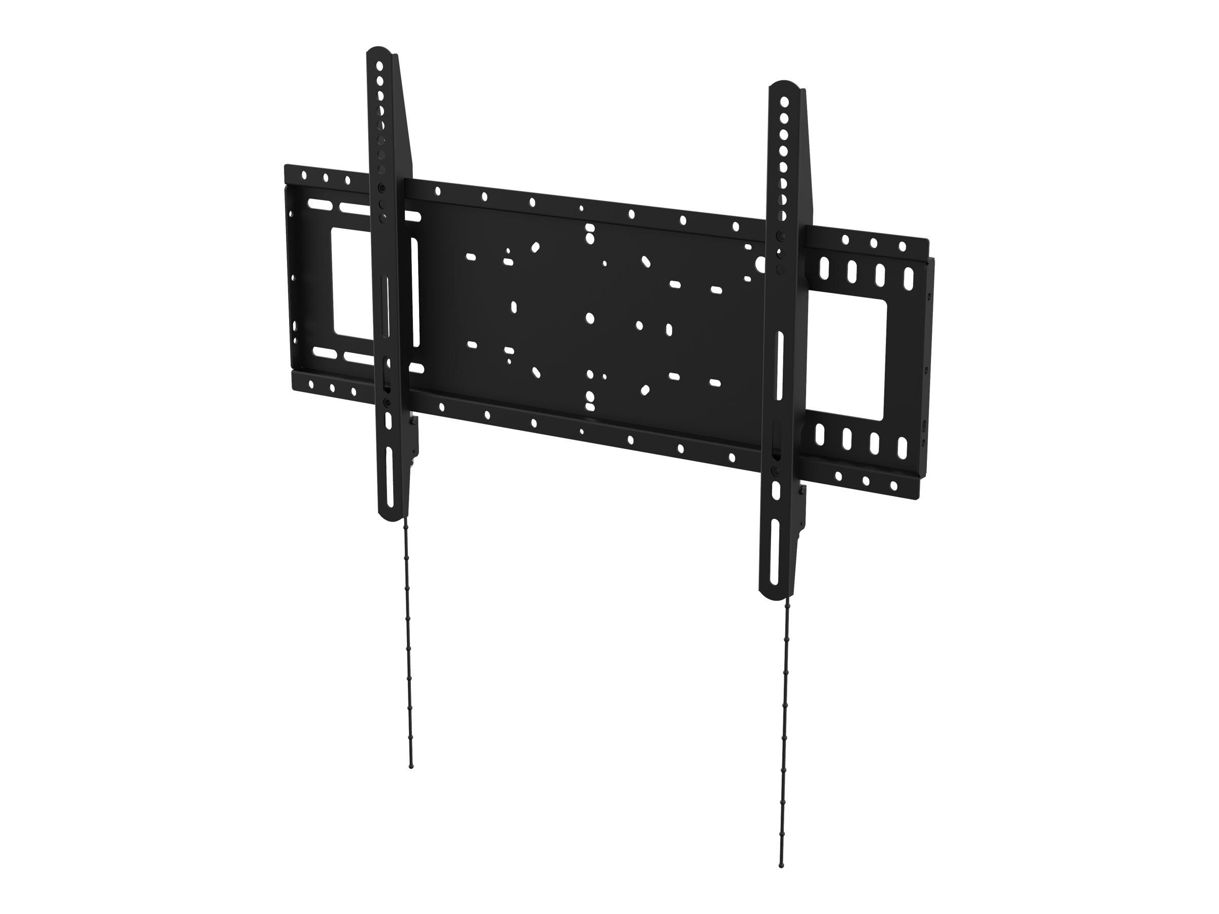 Vision VFM-W6X4 - Wandhalterung für LCD-Display - kaltgewalzter Stahl - Schwarz - Bildschirmgrösse: 94-190.5 cm (37