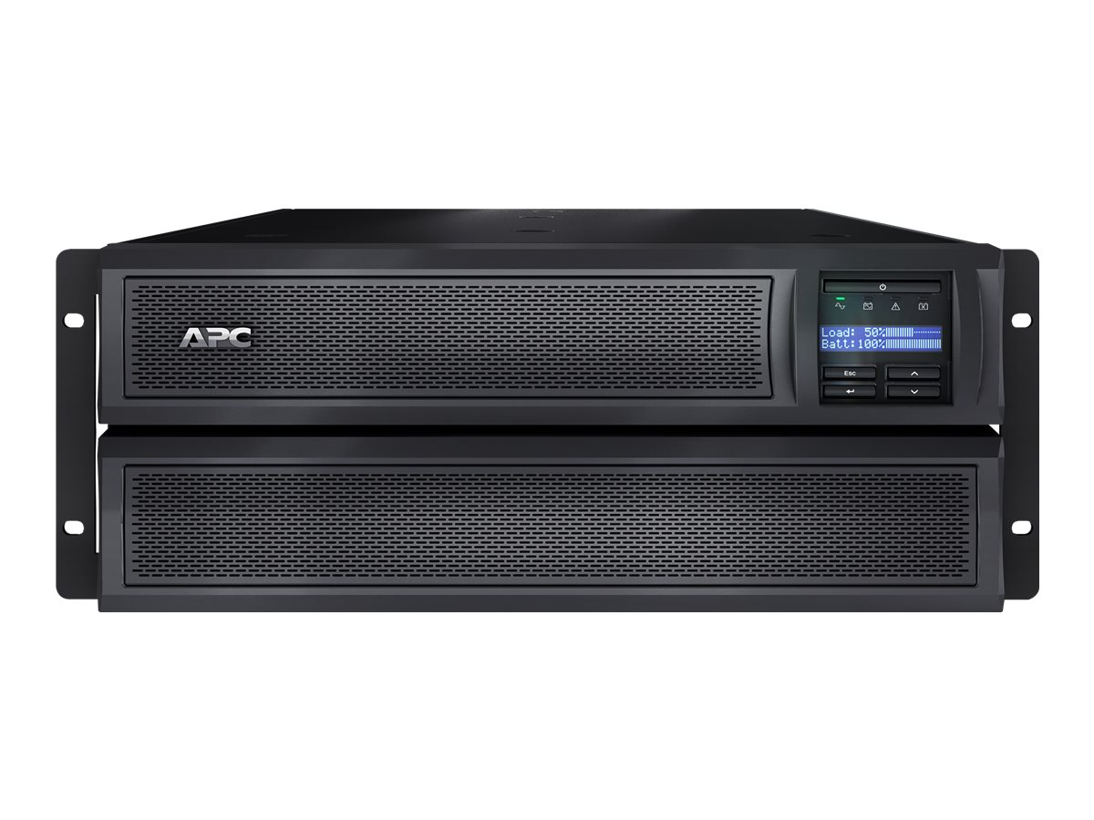 APC Smart-UPS X 3000 Rack/Tower LCD - USV (in Rack montierbar/extern) - Wechselstrom 230 V - 2700 Watt - 3000 VA - RS-232, USB