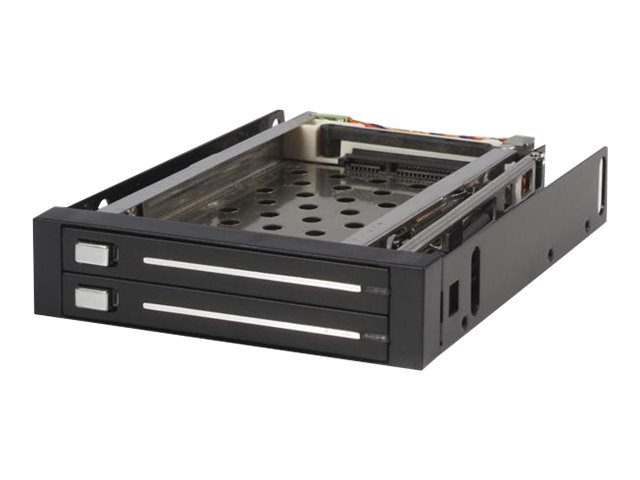 StarTech.com SATA Wechselrahmen 3,5 Zoll trägerlos - Mobiles Festplatten Speicher Rack für 2x 6,4cm (2,5) Hot Swap HDD in Schwar