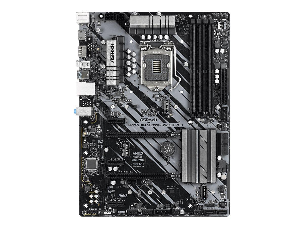 ASRock H470 Phantom Gaming 4 - Motherboard - ATX - LGA1200-Sockel - H470 - USB-C Gen2, USB 3.2 Gen 1, USB 3.2 Gen 2