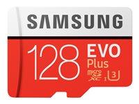 Samsung EVO Plus MB-MC128G - Flash-Speicherkarte (microSDXC-an-SD-Adapter inbegriffen) - 128 GB - UHS-I U3 / Class10 - microSDXC
