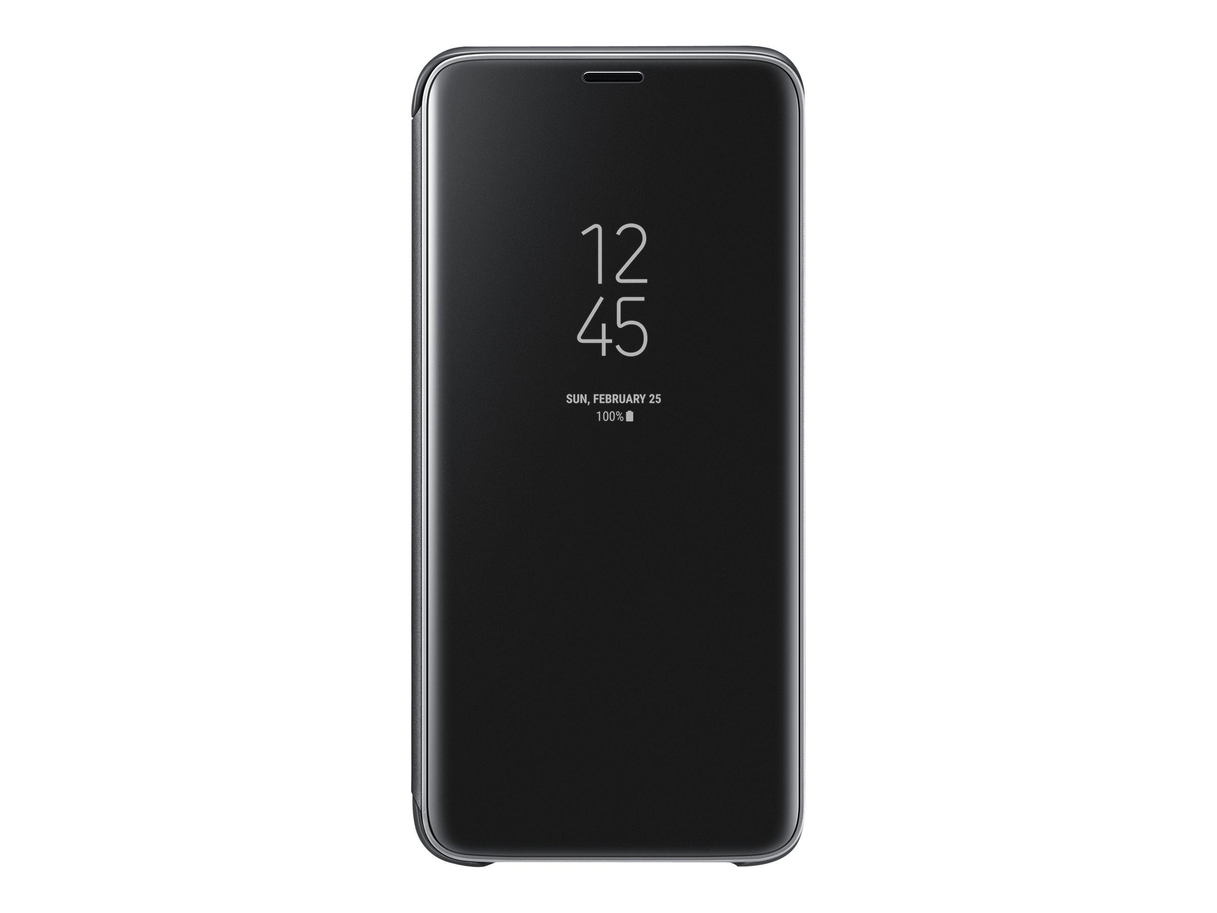 Samsung Clear View Standing Cover EF-ZG960 - Flip-Hülle für Mobiltelefon - Schwarz - für Galaxy S9