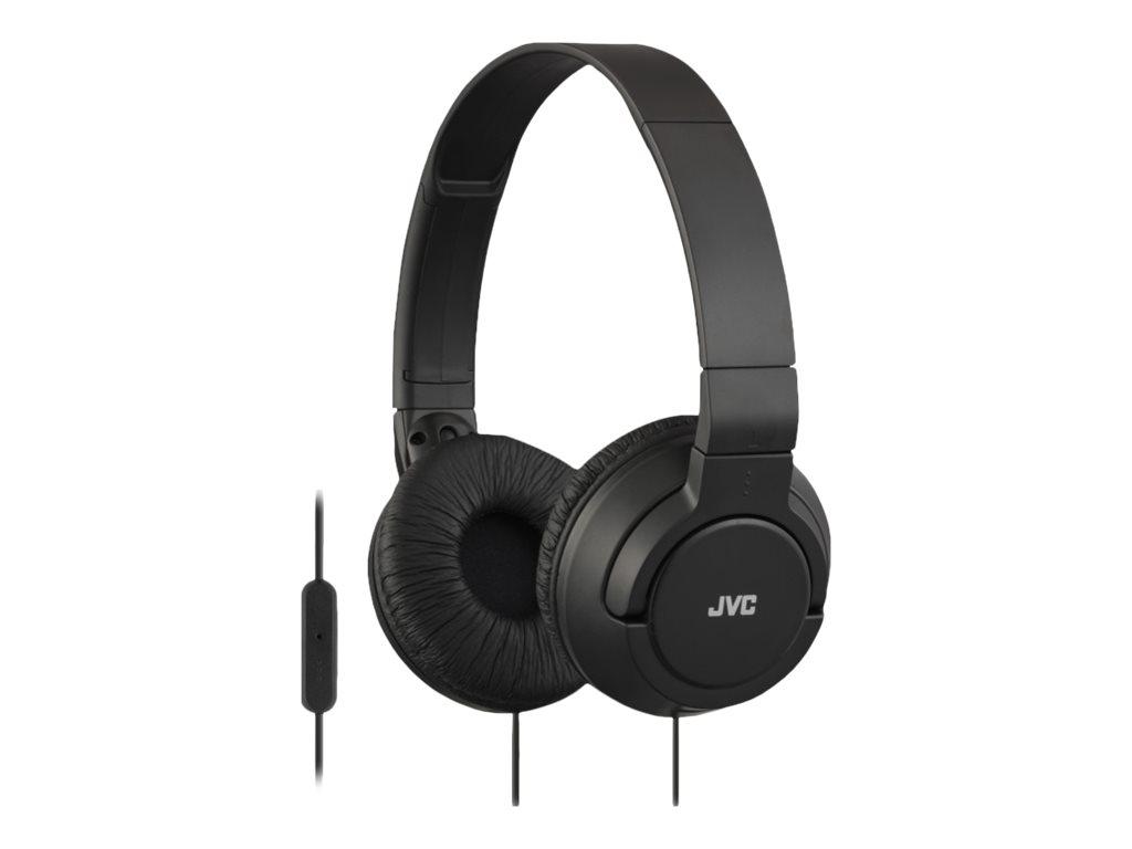 JVC HA-SR185 - Kopfhörer mit Mikrofon - On-Ear - kabelgebunden - 3,5 mm Stecker