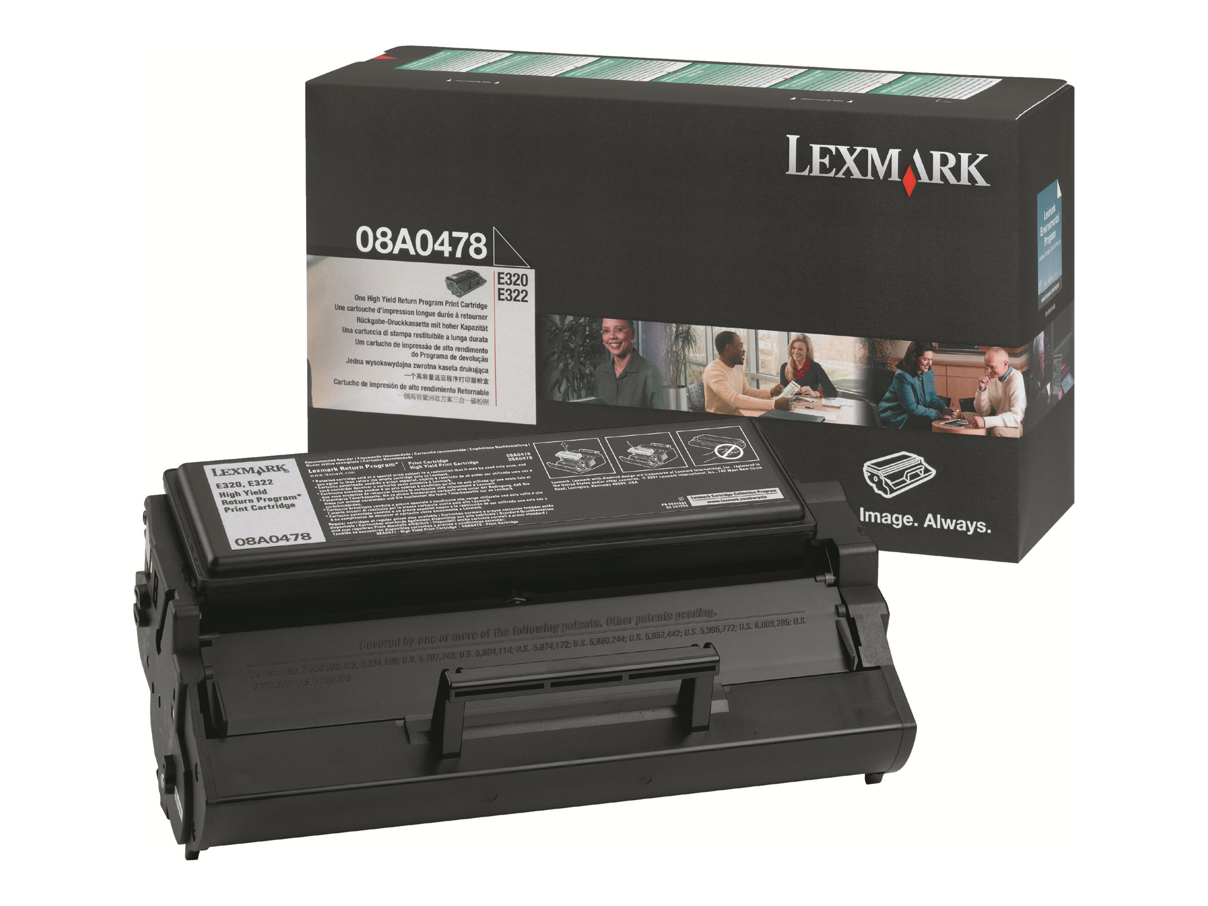 Lexmark - Hohe Ergiebigkeit - Schwarz - Original - Tonerpatrone LCCP, LRP - für E320, 322, 322n, 322tn