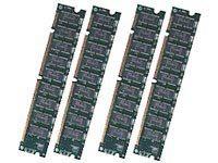 HPE - SDRAM - 2 GB: 4 x 512 MB - DIMM, 168-polig - 100 MHz / PC100 - registriert
