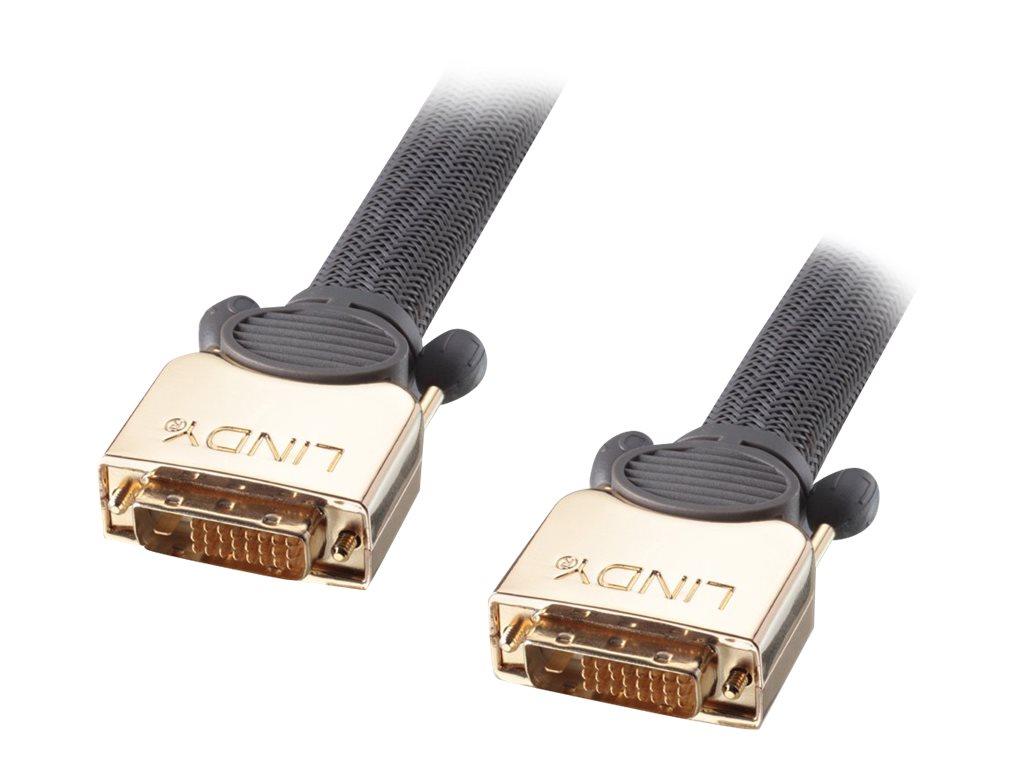 Lindy Premium Gold Super Long Distance - Videokabel - DVI - DVI-D (M) bis DVI-D (M) - 20 m - Dreifachisolierung