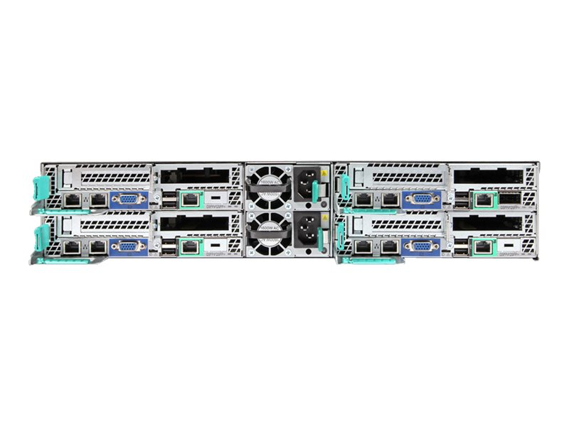 Intel Server Chassis H2312XXKR2 - Rack - einbaufähig - 2U - bis zu 4 Blades - SATA/SAS