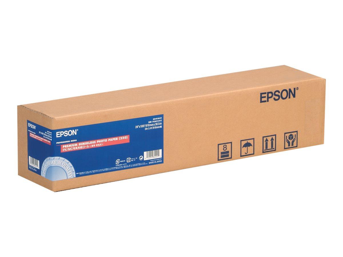 Epson Premium - Halbglänzend - Roll (61 cm x 30,5 m) - 255 g/m² - 1 Rolle(n) Fotopapier - für SureColor SC-P10000, P20000, P6000