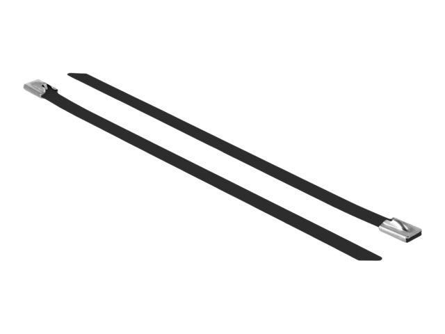 DeLOCK - Kabelbinder - 20 cm - Schwarz (Packung mit 10)