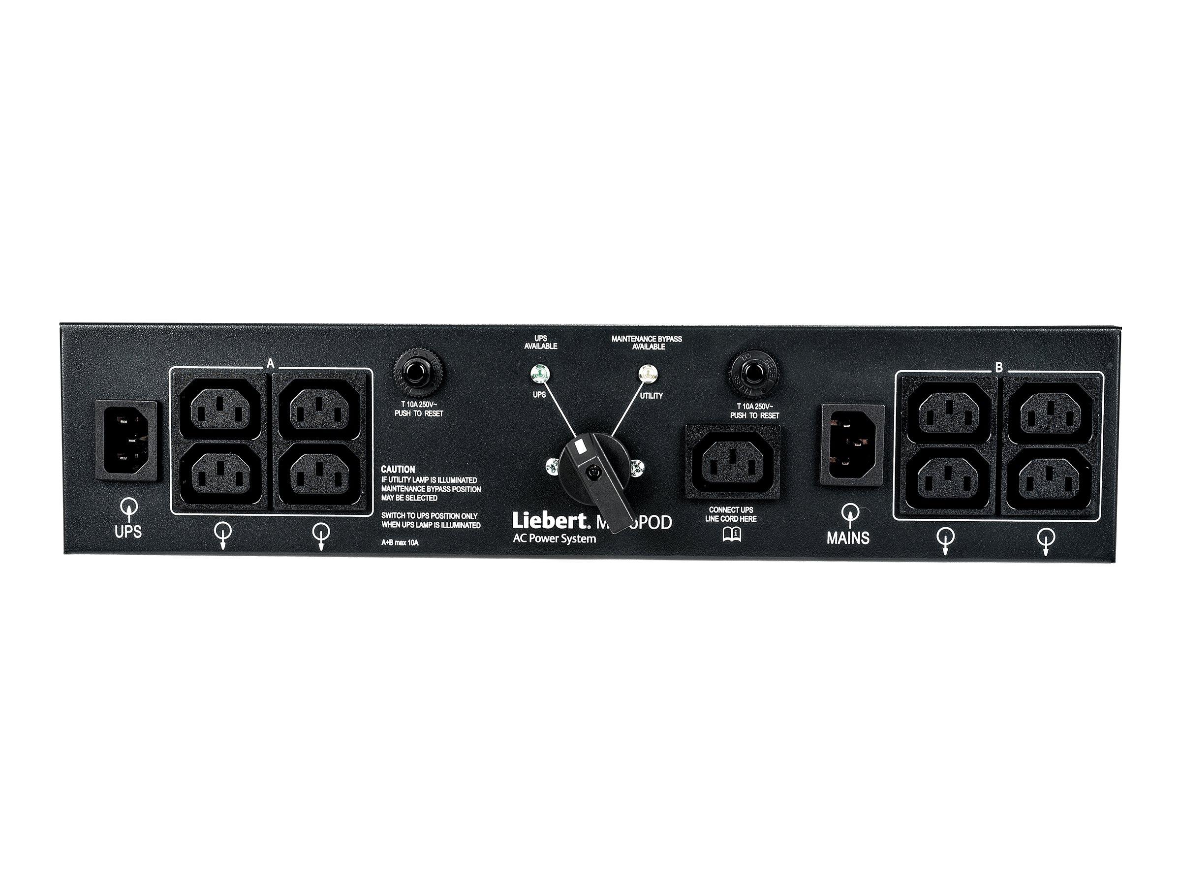 Liebert MicroPod MP2-210K - Umleitungsschalter - Wechselstrom 230 V - für Liebert GXT3-1000RT230, GXT3-1500RT230, GXT3-2000RT230