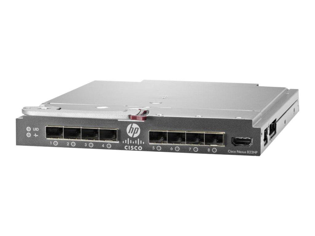 Cisco B22HP - Erweiterungsmodul - 10 GigE, FCoE - 16 Anschlüsse + 8 x SFP+ (Uplink) - für ProLiant c3000