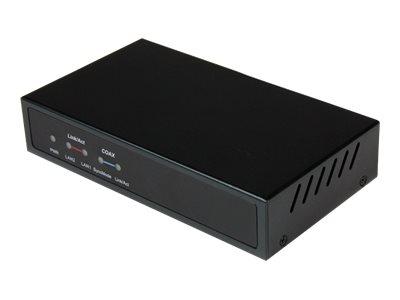 StarTech.com Gigabit Ethernet Netzwerk Extender über Koaxialkabel Empfänger / Receiver 2.4km -LAN über Antennenkabel - IP auf Ko