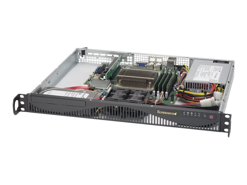 Supermicro SuperServer 5019S-ML - Server - Rack-Montage - 1U - 1-Weg - keine CPU