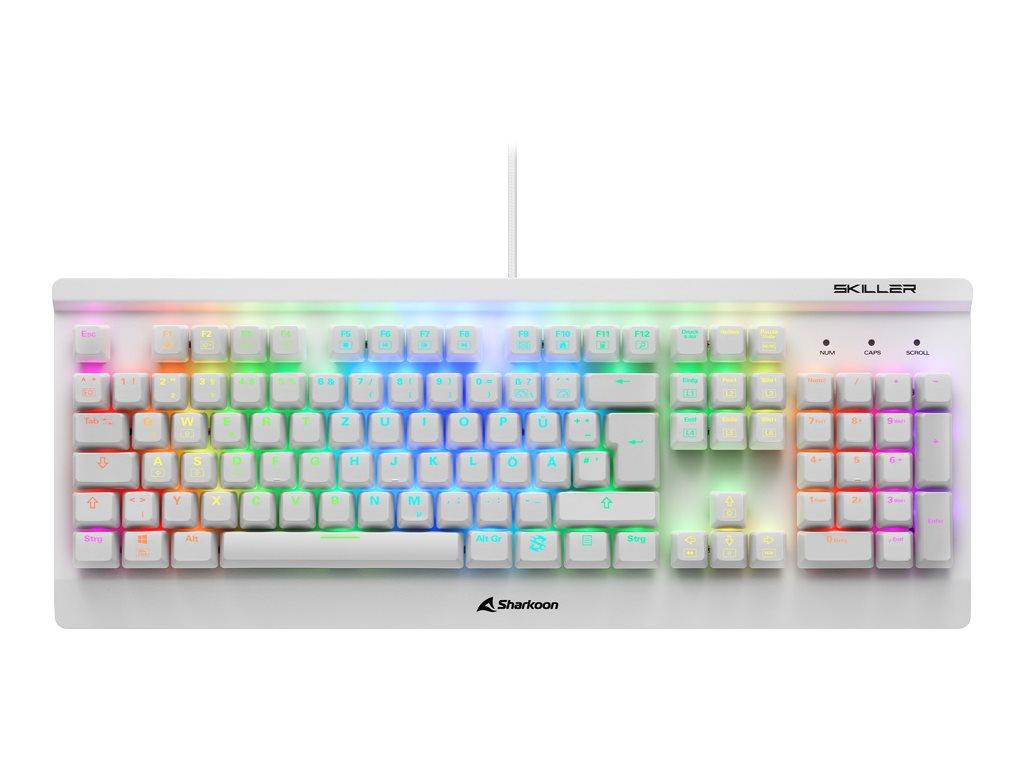 Sharkoon Skiller SGK3 - Tastatur - backlit - USB - QWERTZ - Deutsch