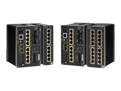 Cisco Catalyst IE3400 Rugged Series - Network Advantage - Switch - managed - 8 x 10/100/1000 + 2 x Gigabit SFP - an DIN-Schiene