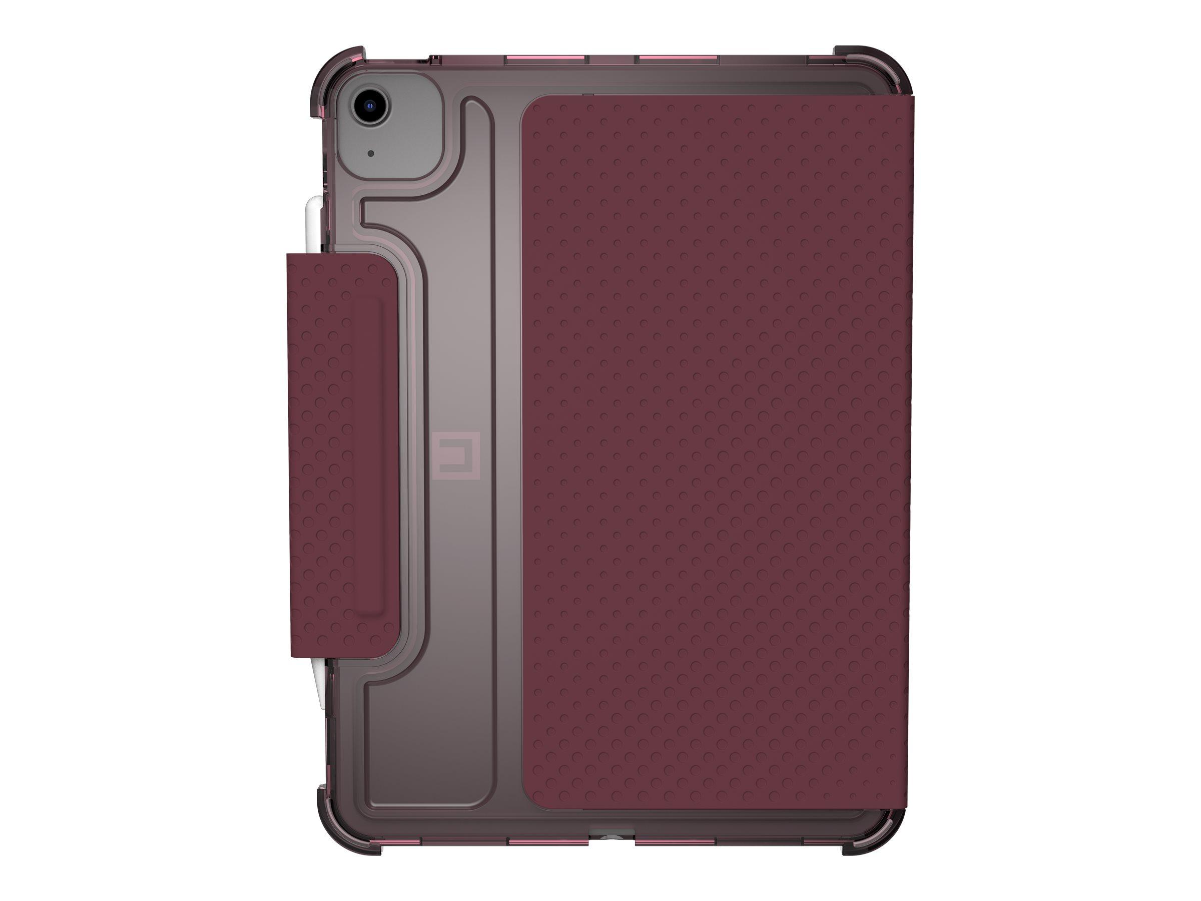 [U] Case for iPad Air 10.9-in (4th Gen, 2020) - Lucent Aubergine/Dusty Rose - Flip-Hülle für Tablet - Aubergine, Dusty Rose - 10