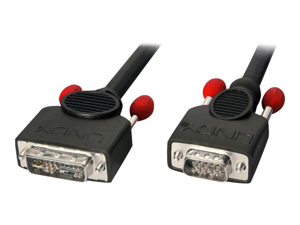 Lindy - VGA-Kabel - DVI-A (M) bis HD-15 (VGA) (M) - 2 m - Schwarz
