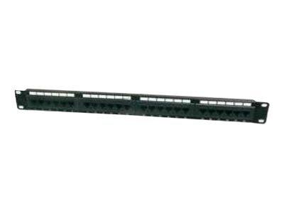 DIGITUS Professional DN-91616U - Patch Panel - RJ-45 X 16 - Schwarz, RAL 9005 - 1U - 48.3 cm (19