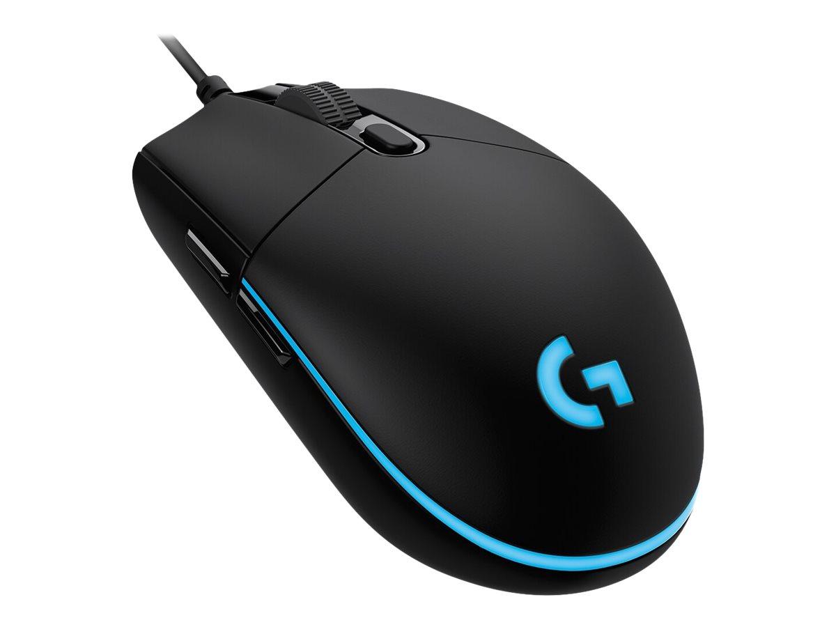 Logitech Gaming Mouse G Pro (Hero) - Maus - optisch - 6 Tasten - kabelgebunden - USB