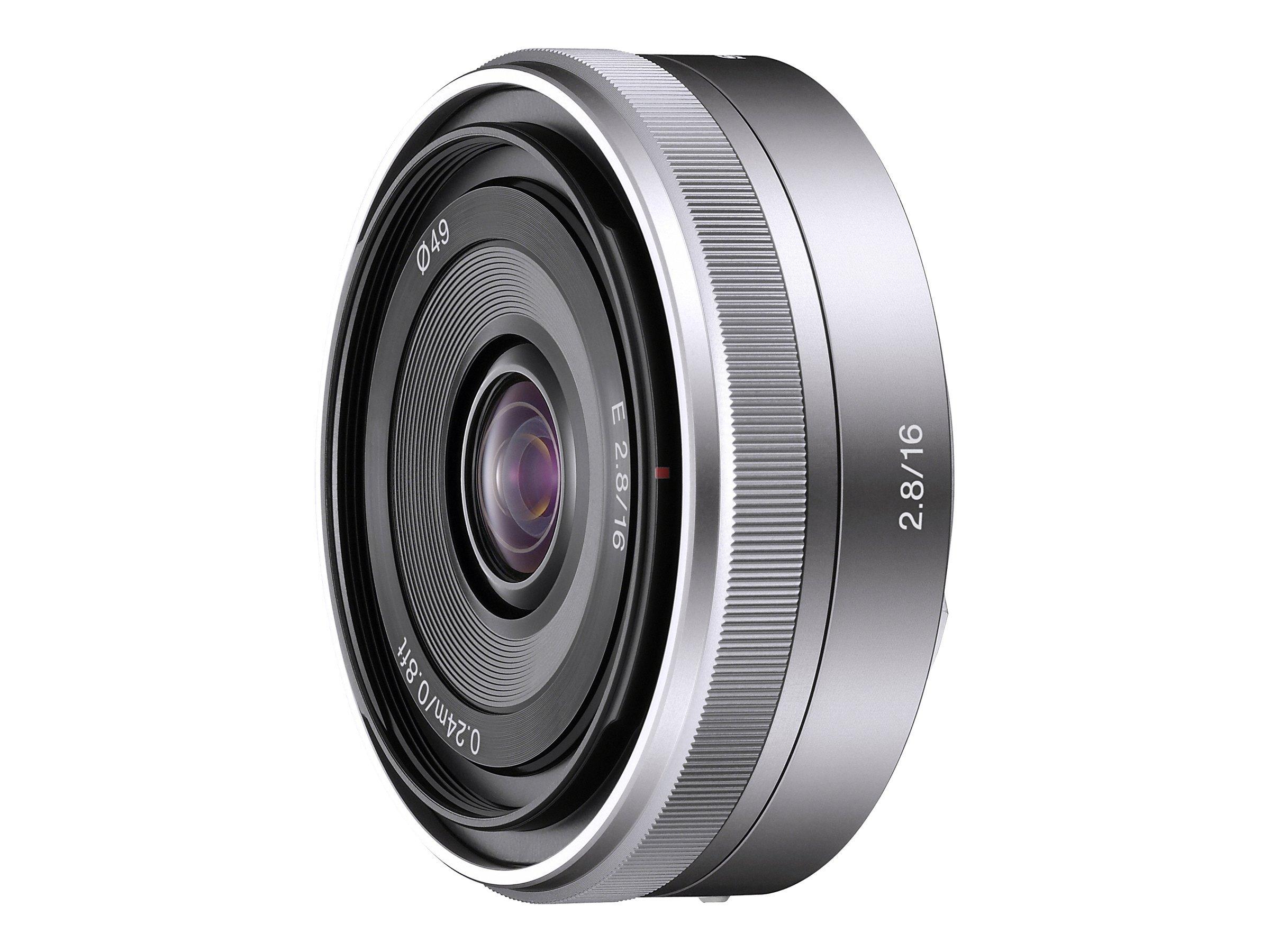 Sony SEL16F28 - Weitwinkelobjektiv - 16 mm - f/2.8 - Sony E-mount - für NXCAM NEX-FS100E, NEX-FS100EK