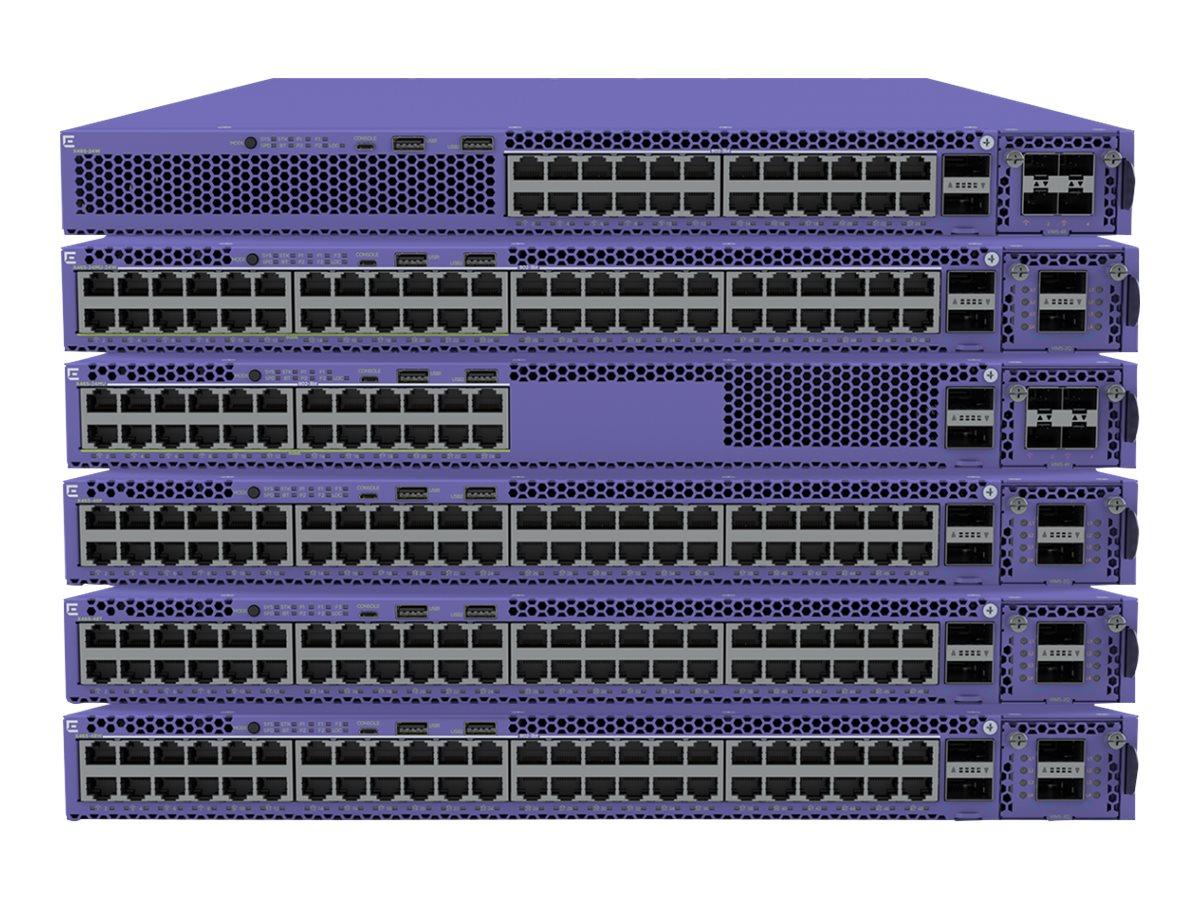 Extreme Networks ExtremeSwitching X465 Series X465-48W - Bundle - Switch - managed - 48 x 10/100/1000 (UPOE) + 2 x 40 Gigabit QS